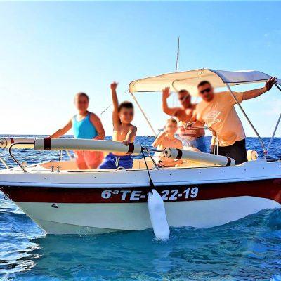 Rent a boat without captain and licence in Tenerife South - Najem čolna z lastnim pogonom v Tenerife South (licenca za čoln ni potrebna)