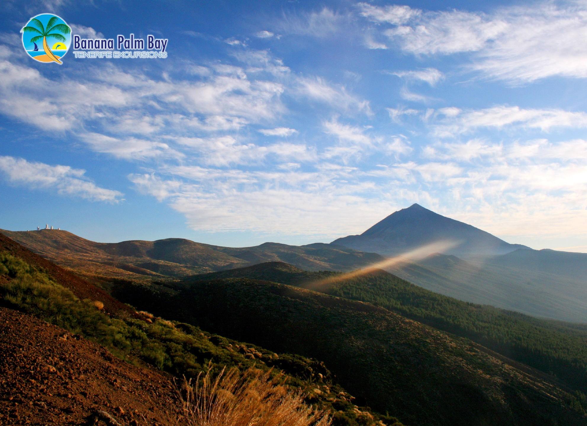 Wandelen op de top van Tenerife Teide light