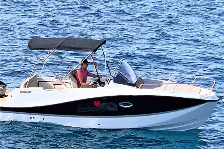 Motorinės valties nuoma Tenerifėje su Quicksilver 755 Sundeck su kapitonu arba be jo - 2478
