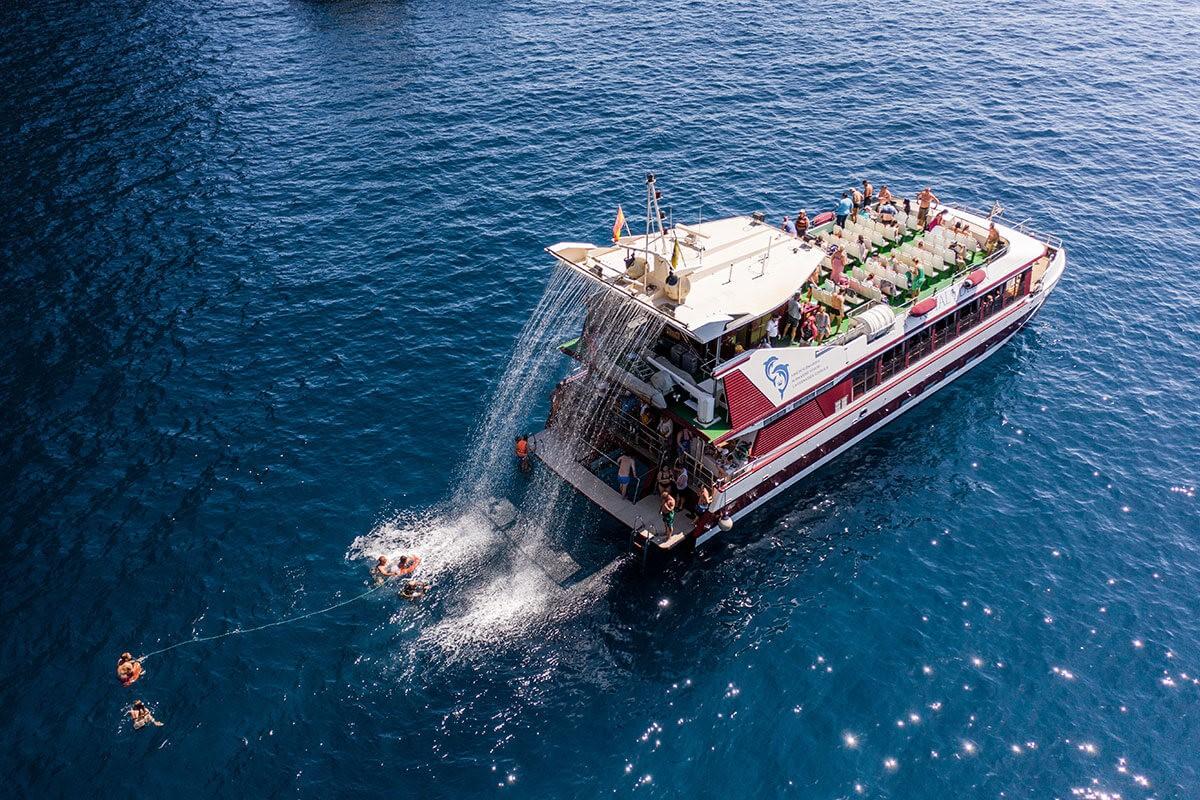 4,5 timmars katamarantur på Teneriffa med Royale Delfin till Los Gigantes