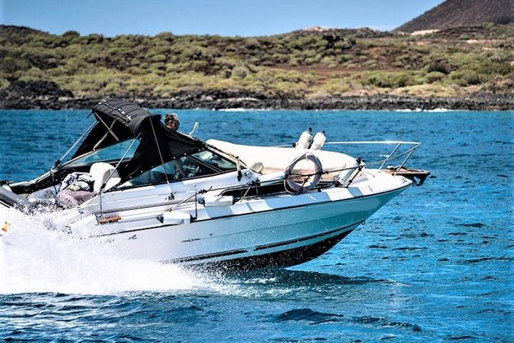 Tenerife Self Drive Boat Rental Puerto de Las Galletas (1)-min - Tenerife Motor Boat hire with or without skipper with SeaRay 230