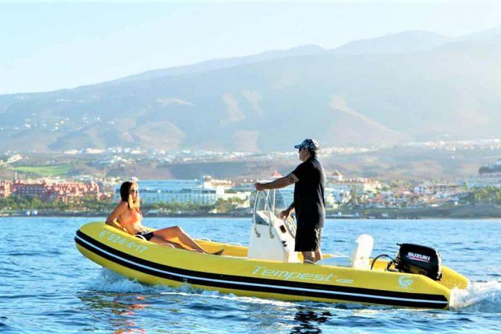 Barco semirrígido en Tenerife Sur Puerto Colon (No requiere licencia) - 4178