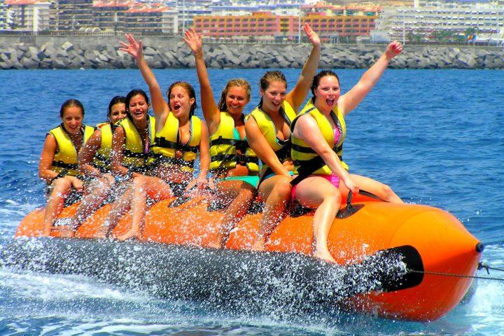 banana boat tenerife - Banana Boot Fahren auf Teneriffa