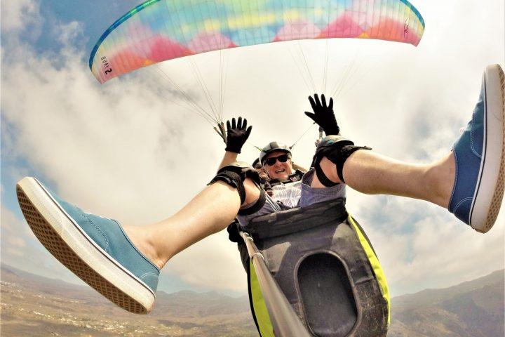 Paragliding på södra Teneriffa - 1090